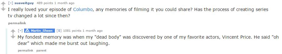 Sheen on reddit